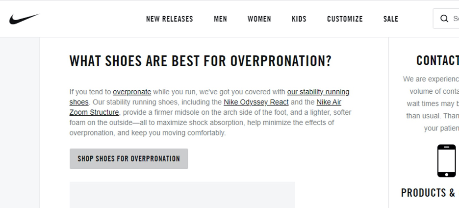 Overpronation Results, Nike